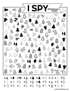 Christmas Party Activities, Christmas Worksheets, Free Christmas Printables, Craft Activities For Kids, Free Printables, Kids Christmas, Christmas Crafts, Christmas Trees, Paper Trail