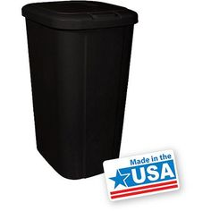 Walmart Outdoor Trash Cans 32Gallon Outdoor Garbage Can  Housewarming Gifts  Pinterest