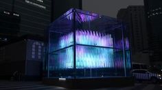 Brilliant Cube is a kinetic 3D matrix, comprised of 576 clear LED poles moving up and down. The dimension is 6M X 6M X 6M.It is located at Gangnam station crossroads,…