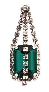 Vintage Emerald & Diamond Ear Pendant