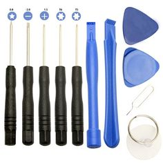 11 Pcs Cell Phones Opening Pry Repair Tool Kit Screwdrivers Tools Set For iPhone Samsung htc Moto Sony