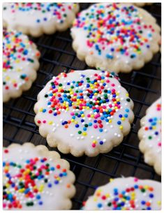 Hello! I'm sorry to have been gone so long. I've really missed you and my blog....and I just had to share these sprinkles cookies from Confessions of a Cookbook Queen. I was scanning through Pin...