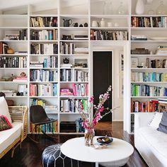 The #shelfie is a trending hashtag for a reason—expertly styled bookcases consistently perform well on Instagram. Bonus points if it features color-coded books and handmade pottery.  @MyDomaine