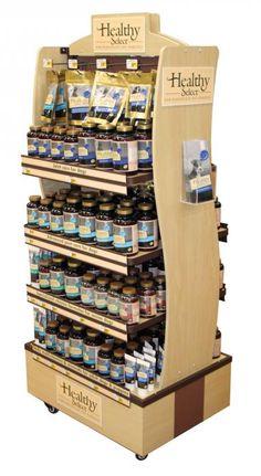 Wood Display for Healthy Select Pet Vitamins