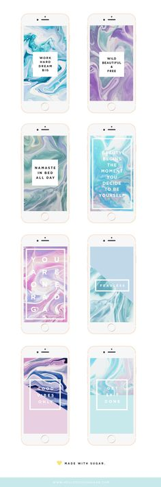 Freebie of the day! Download your marble themed mobile wallpapers!