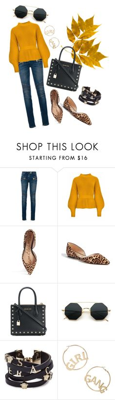 """Autumn"" by rita-coppola on Polyvore featuring moda, Balmain, Sam Edelman, MICHAEL Michael Kors, Versace e BP."