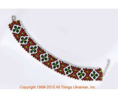 AllThingsUkrainian.com gherdany Bead Jewelry  # GIBN15126