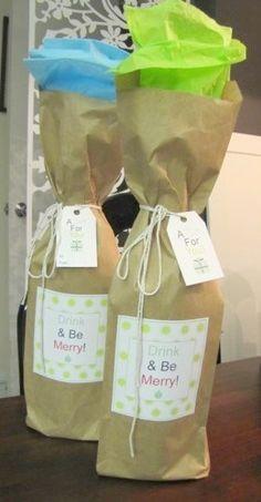 diy wine gift bags