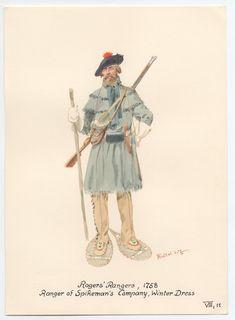 Rogers' Rangers, Ranger of Spikeman's Company, Winter dress Mountain Man Rendezvous, Us Army Rangers, British Army Uniform, Colonial Art, Seven Years' War, My War, Fur Trade, Warrior Spirit, American War