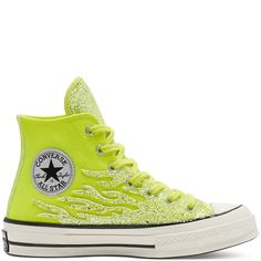 Chuck 70 Glitter Shine montante pour Femme Citron vénéneux/Aigrette/Noir lemon venom/egret/black Converse Sneakers, High Top Sneakers, Converse High, All Star, High Tops, Site Nike, Me Too Shoes, Converse Chuck Taylor High, Chuck Taylors High Top
