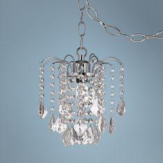 Nicolli Clear Crystal 8 Wide Swag Plug In Mini Chandelier Lampsplus