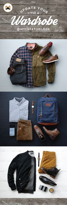 Update Your Style & Wardrobe by checking out Men's collections from MyCreativeLook | Casual Wear | Outfits | Fall Fashion | Boots, Sneakers and more. Visit mycreativelook.com/ #wardrobe #fashion #styleinspiration #grid #clothinggrids #menswear