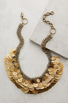 Shilling Bib Necklace