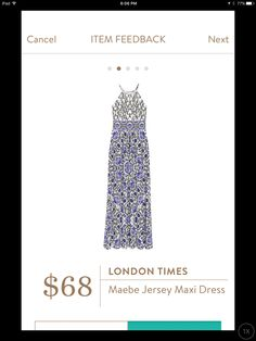 London Times Maebe Maxi Dress//Stitch Fix. This would be perfect for Mexico.