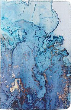 SaharaCase - Folio Case for Samsung Galaxy Tab S7 - Blue Marble