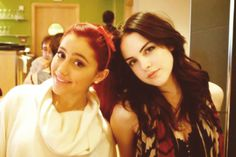 Ariana Grande and Liz Gillies