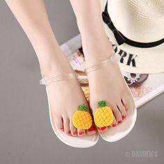 Women 2017 Sandalias Mujer Fruit Flip Flops Jelly Sandals Shoes Girls Summer Flat Beach Sandals Flip Flops 858690