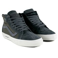839bcfa9dedcac Vans Syndicate Sk8 Hi Notchback Pro Defcon Grey Suede Skate Shoes