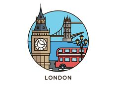 London tower bridge big ben bus illustration london View on Dribbble Instagram Logo, London Instagram, Free Instagram, Instagram Story, Big Ben Tattoo, Mini Drawings, Easy Drawings, London Drawing, London Icons