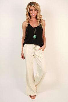 5db436998e2 Living The Dream Linen Pant. Linen Pants WomenBlack ...