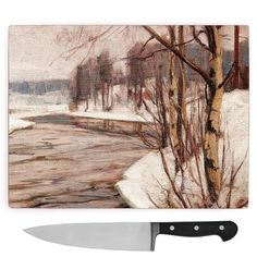 Victor Westerholm Birches in Early Spring Large Chopping Board Big Box Art Birches, Early Spring, Box Art, Beautiful Homes, Big, Painting, Outdoor, Products