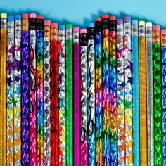 I had a whole pencil box full of pencils like this, most of which I had bought at the school store. I actually rarely sharpened a new one, because I was always saving them for something great. Cute School Supplies, Party Supplies, 90s Childhood, Childhood Memories, Rhode Island Novelty, Barbie 90s, School Fun, School Store, Pencil Toppers