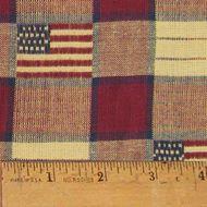 Old Glory Flag Homespun Cotton Fabric