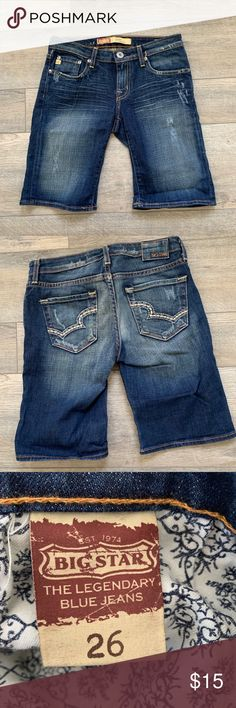 af9d27a4f7e Big Star Alexa low rise shorts size 26 distressed Big Star denim shorts. Women's  size