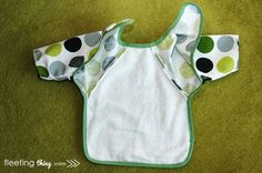 fleetingthing » Long-sleeved baby bib (pattern and tutorial)