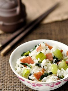 Shanghainese Rice with Green Cabbage and Chinese Ham