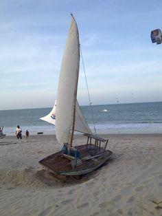"""Cumbuco-CE Brazil #Kitesurf paradise. · Jangada sailing Discover a new aspect of the ocean. Pousada Itaca Hotel offers you to navigate on a """"jangada"""", the boat used by the local fishmen. Itaca Hotel navegue em uma jangada, pescadores locais usando balsa-"""