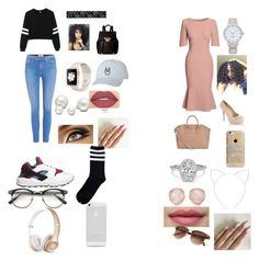 """""""11:58 p.m."""" by minnieroc16 ❤ liked on Polyvore featuring Paige Denim, NIKE, Akira, Ivanka Trump, Allurez, Smashbox, Kate Spade, Canvas by Lands' End, LC Lauren Conrad and Givenchy"""