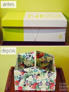 20 Clever Things You Can Do With a Shoebox Diy Home Crafts, Diy Arts And Crafts, Creative Crafts, Diy Para A Casa, Diy Magazine Holder, Cardboard Box Crafts, Cardboard Storage, Diy Storage Boxes, Diy Curtains