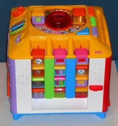 Fisher Price Incrediblock + 35 Peek-A-Blocks Includes 7 Interactive Dog Cat Horn Drum Car Boat Cow $33