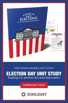 Use this free unit study to introduce your children to the presidential election process in a simple, thorough way. Presidential Election Process, Election Day, Teaching Election, Presidental Election, Social Studies Classroom, Creative Writing Prompts, The Unit, Crossword, Word Search