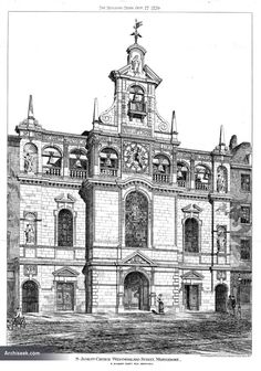 St James's Church or chapel, Westmoreland Street 1879, George Gilbert Scott The Building News, October 17th 1879 Demolished to make way for the Heart Hospital