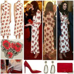 ◇18 October 2016◇  The Duke and Duchess of Cambridge and Prince Harry attended a reception hosted by the Queen and Prince Philip for Team GB and Paralympics GB medallists from the 2016 Rio Olympics and Paralympic Games at Buckingham Palace.  The Duchess debuted a new bespoke poppy print Alexander McQueen dress this evening. Kate's dress appears to be a customised version of the pre-spring 2017 style. The Silk Floral Midi Dress retails for $3075 at Saks Fifth Avenue. There are several…