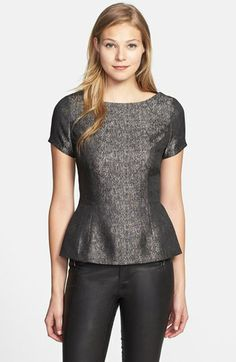 Halogen® Back Zip Top (Regular & Petite) available at #Nordstrom; personal shopper put me in this with a thin burgundy belt.  It was cute...