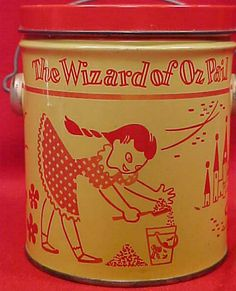 Vintage pail!  http://www.etsy.com/listing/169864334/vintage-the-wizard-of-oz-peanut-butter