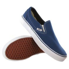 AwesomeNice Vans Classic Slip On Navy Womens Trainers