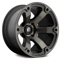 FUEL® - BEAST Black with Machined Face and Double Dark Tint