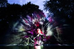 Robert Seidel's Fountain Projection is a Real-Life 'Fantasia' - Life S, Real Life, Projection Mapping, Wall Installation, Augmented Reality, Fountain, Northern Lights, Vibrant Colors, Environment