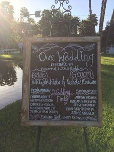 Wedding program board #windmillranchweddings #weddingsbysheilafoster