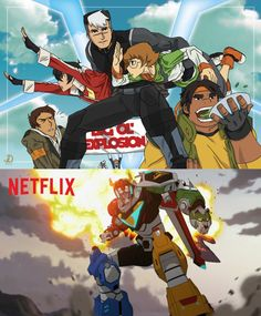 by @johnneedee on tumblr - Team Voltron recreating the cover image