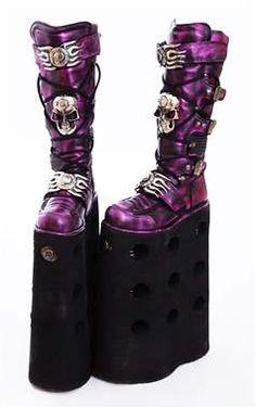 Amazing Rare 40cm New Rock Gothic Platform Boots - M.1064