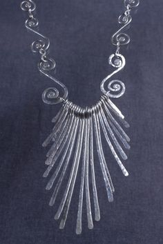 Link Feather Sterling Silver Necklace