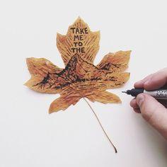leaves as paper