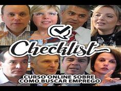 Checklist Curso on line sobre como buscar emprego no Brasil