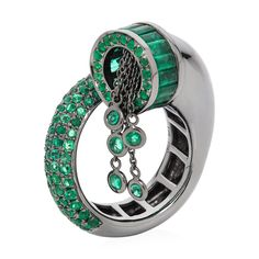 Leyla Abdollahi -18k black gold and emerald ring.