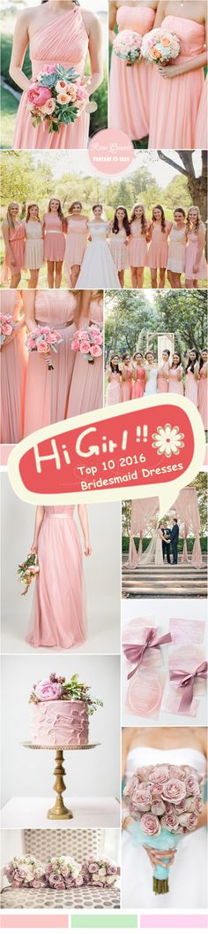 Welcome to 2016 ★. As usual, there are 10 colors in total that have been chosen for next season, which shows us the most popular wedding color ideas and trends in 2016. Furthermore, we will get some color inspiration for spring bridesmaid dresses. Just check out the Pantone inspired bridesmaid dresses color ideas for spring 2016 with us!